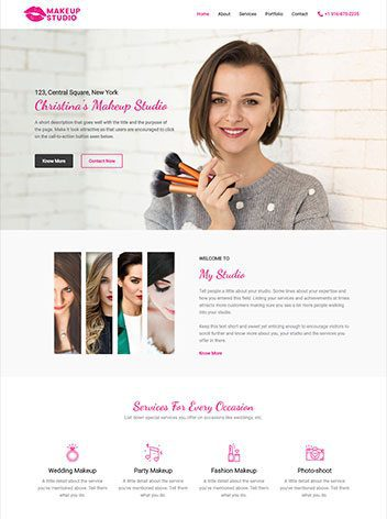 website maintenance make up artist
